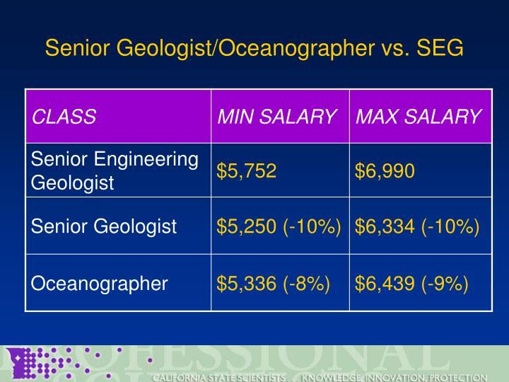 Senior Geologist/Oceanographer vs. SEG