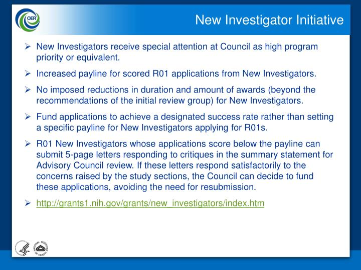 New Investigator Initiative