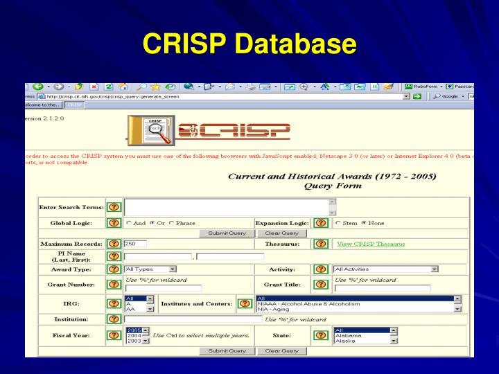 CRISP Database