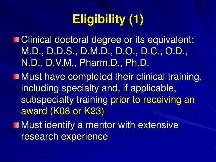 Eligibility (1)
