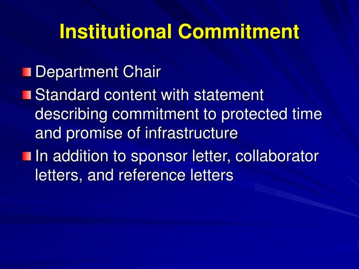 Institutional Commitment