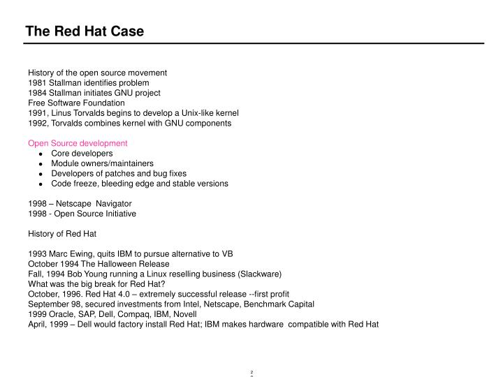 The Red Hat Case