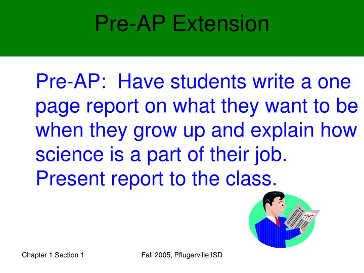 Pre-AP Extension