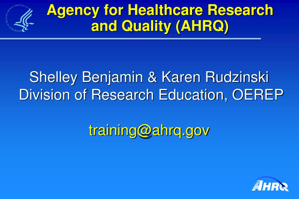 Agency for Healthcare Research and Quality (AHRQ)
