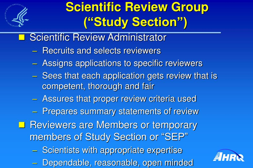 Scientific Review Group