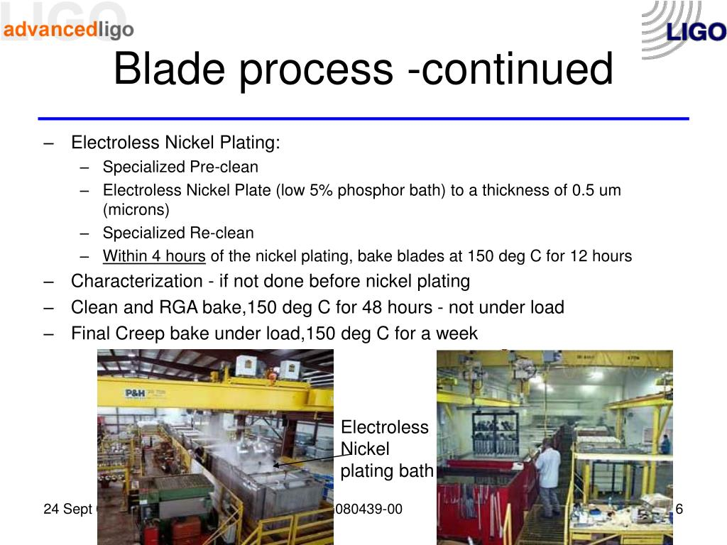 Blade process -continued
