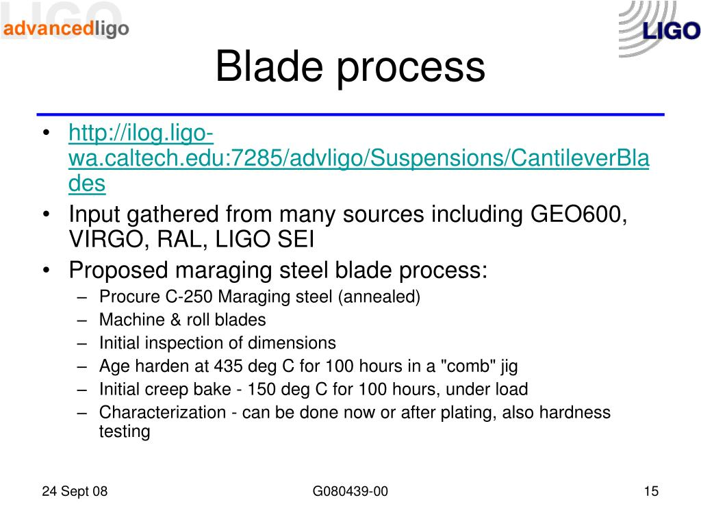 Blade process