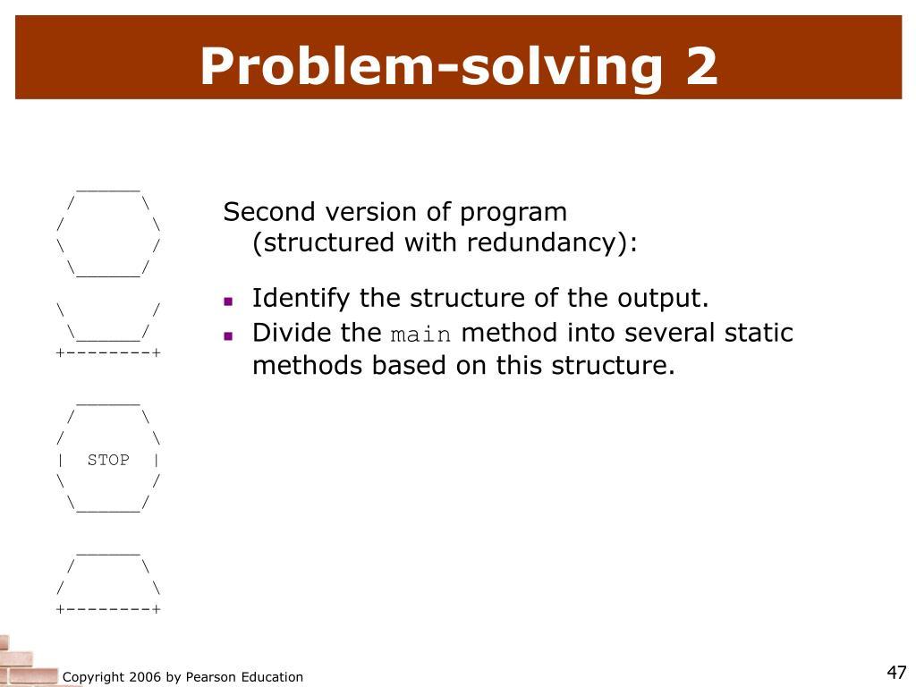 Problem-solving 2