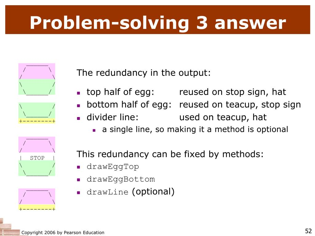Problem-solving 3 answer