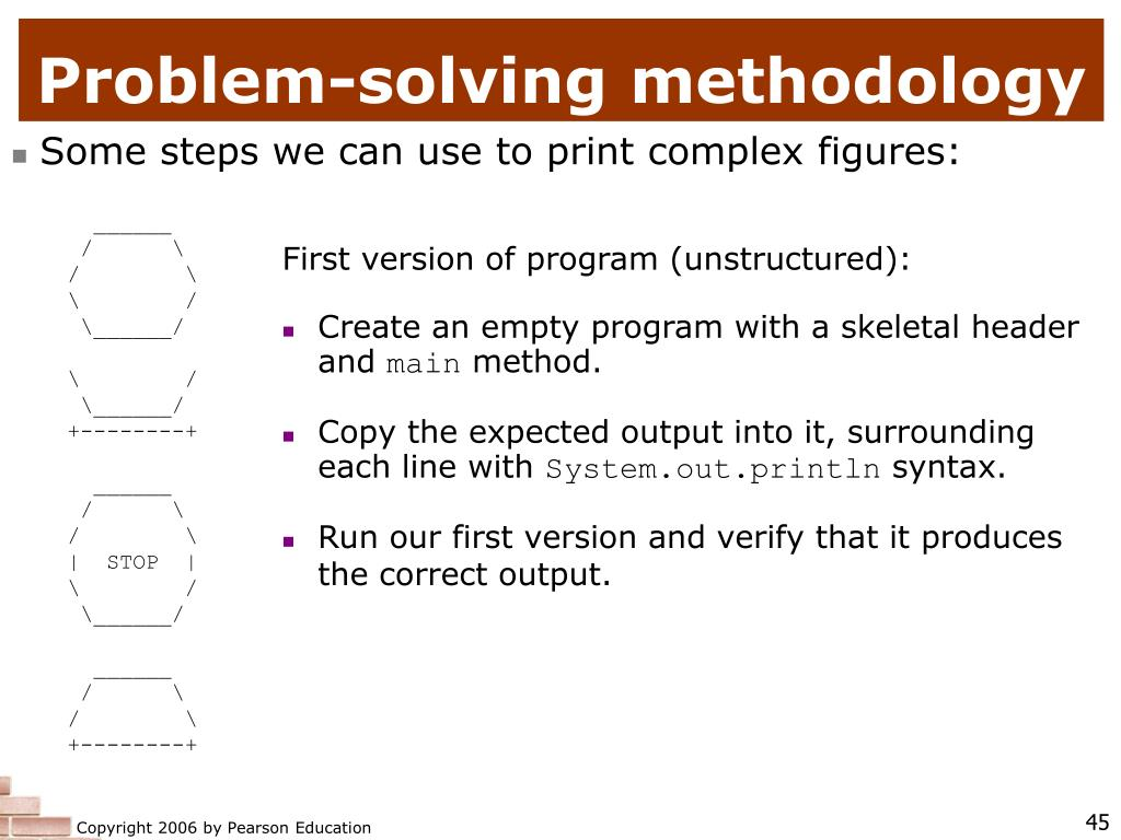 Problem-solving methodology