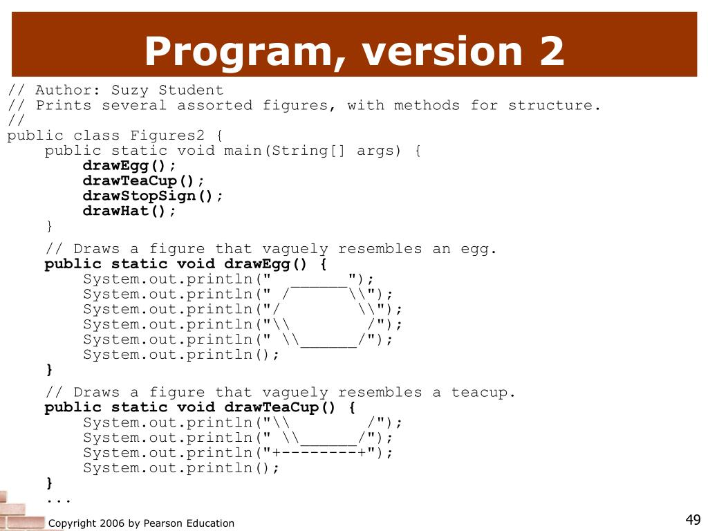 Program, version 2
