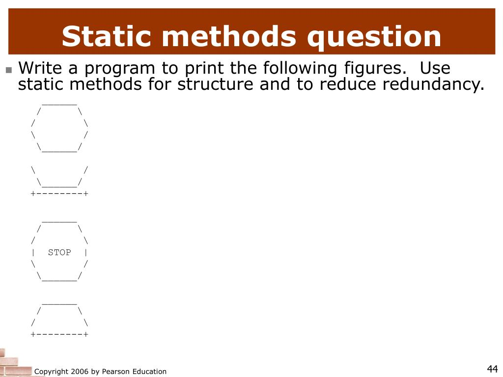 Static methods question