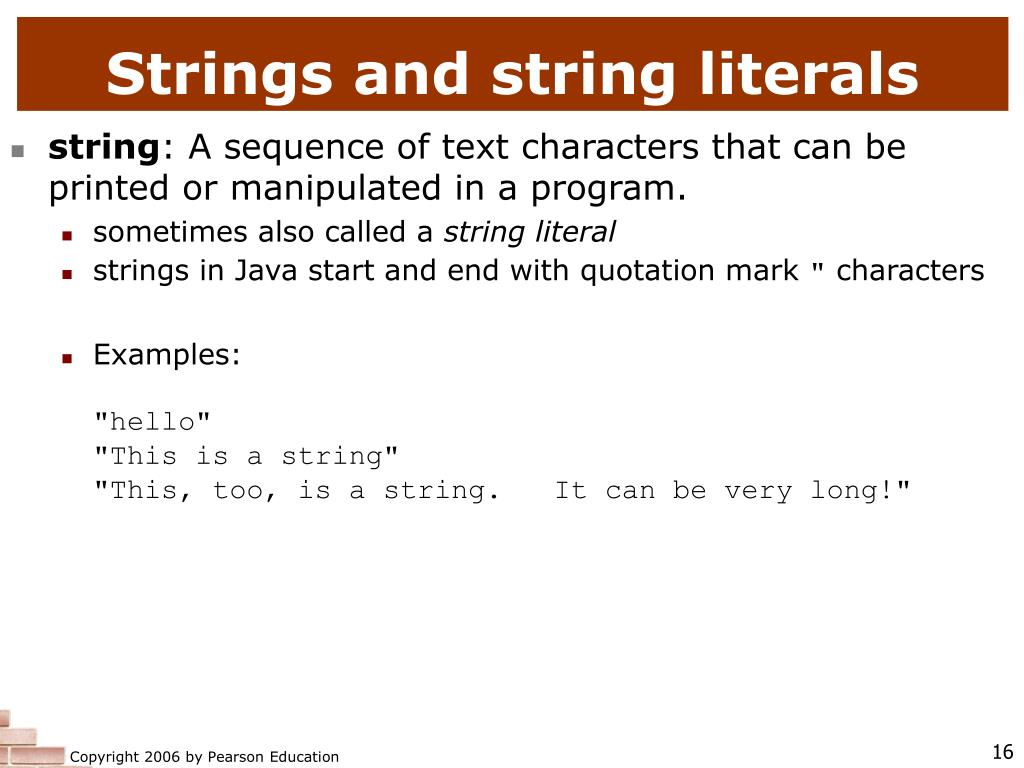 Strings and string literals