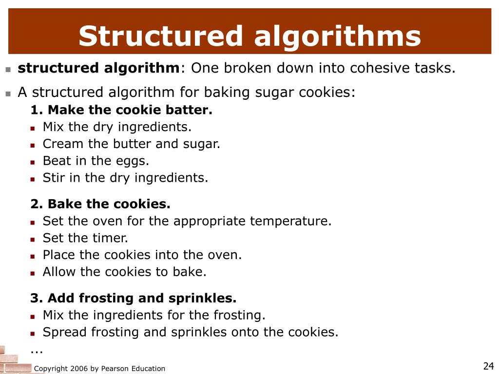Structured algorithms