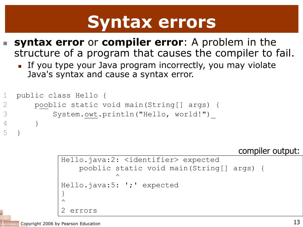 compiler output: