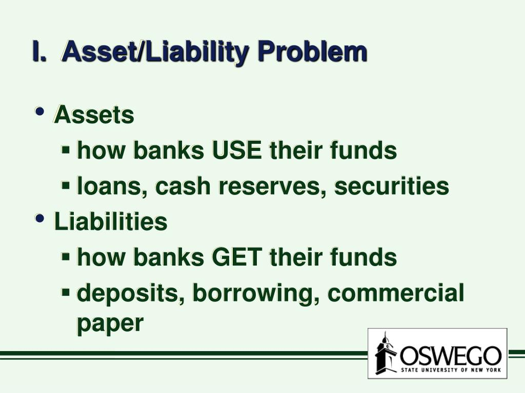 I.  Asset/Liability Problem