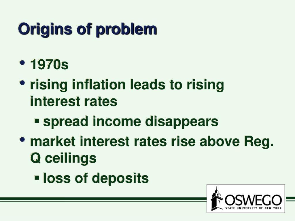 Origins of problem