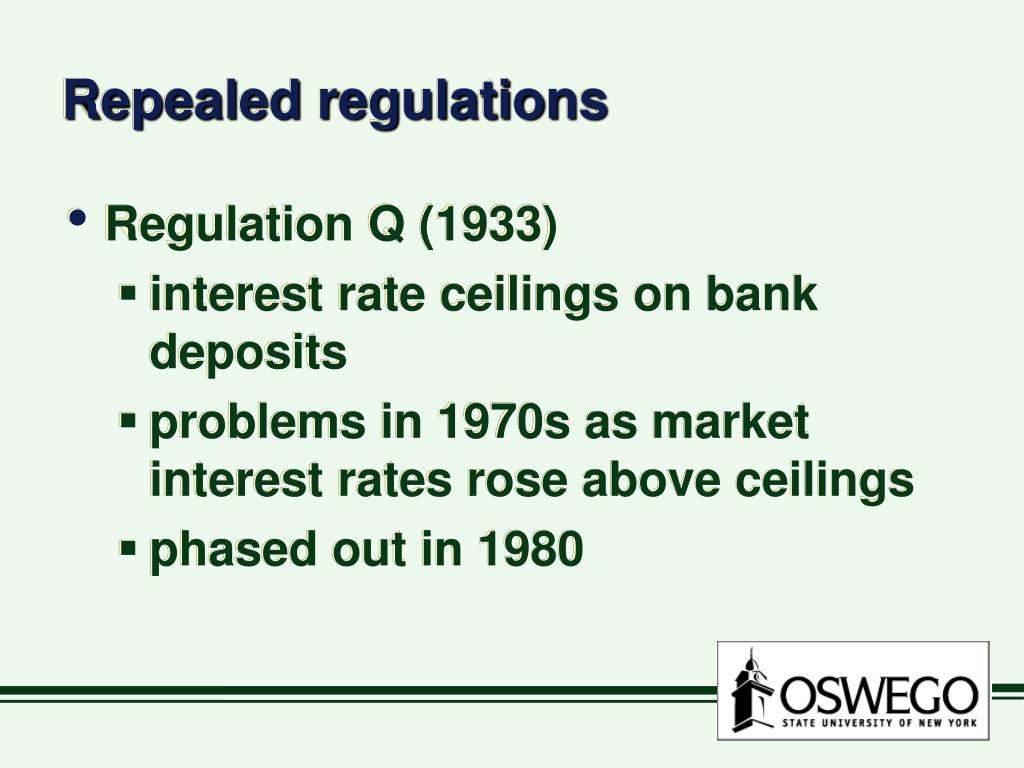 Repealed regulations