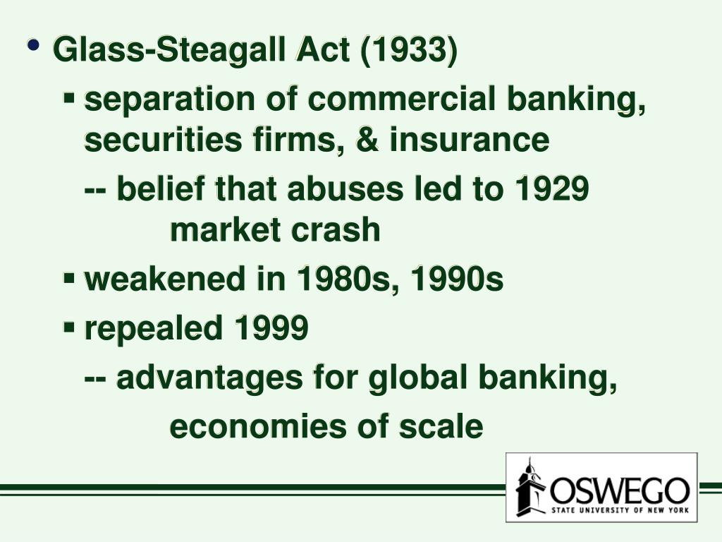 Glass-Steagall Act (1933)