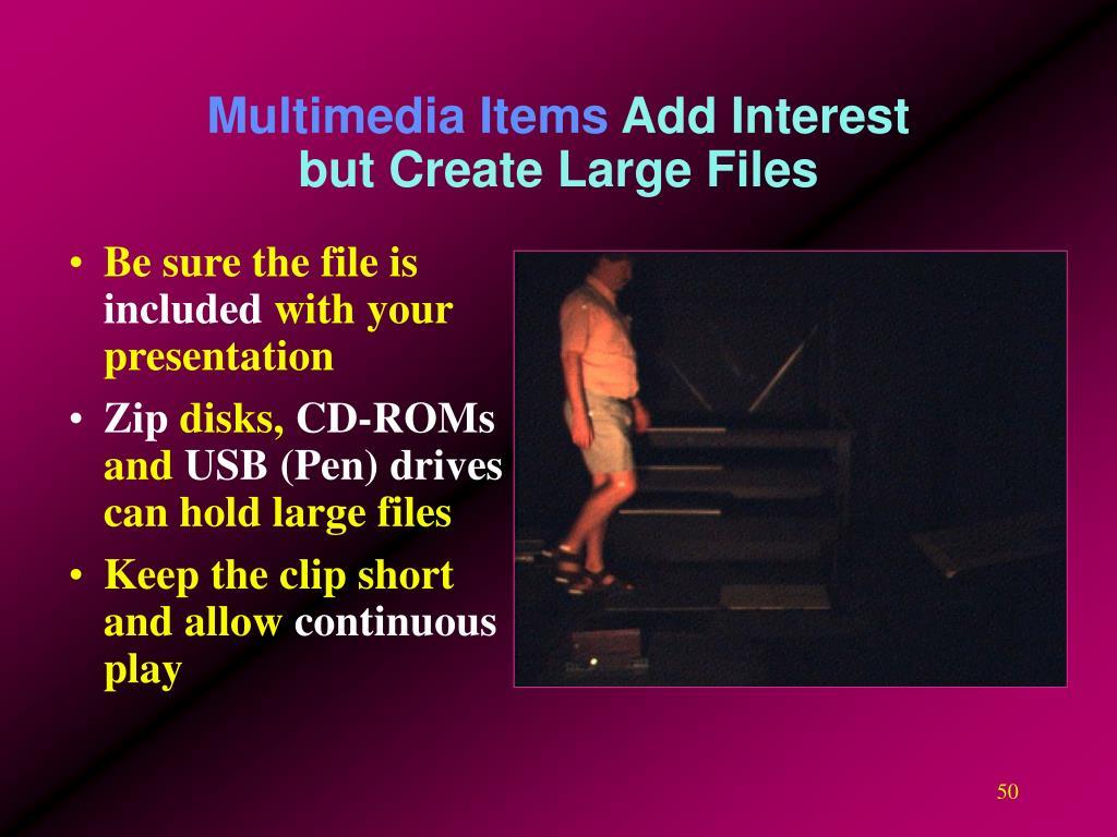 Multimedia Items