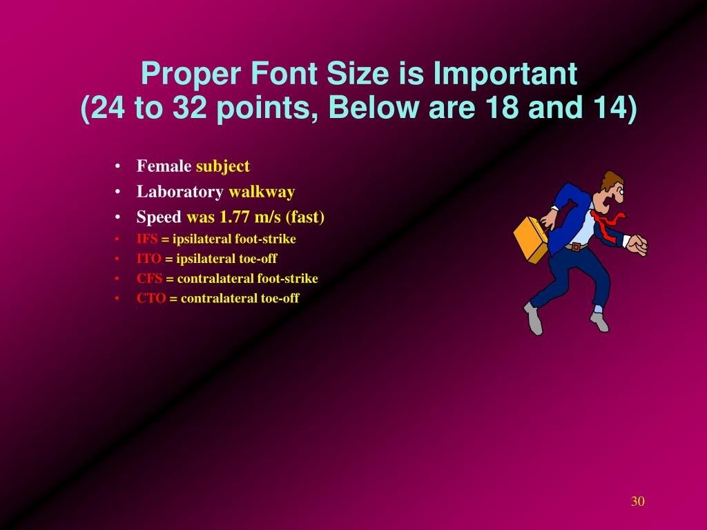 Proper Font Size is Important