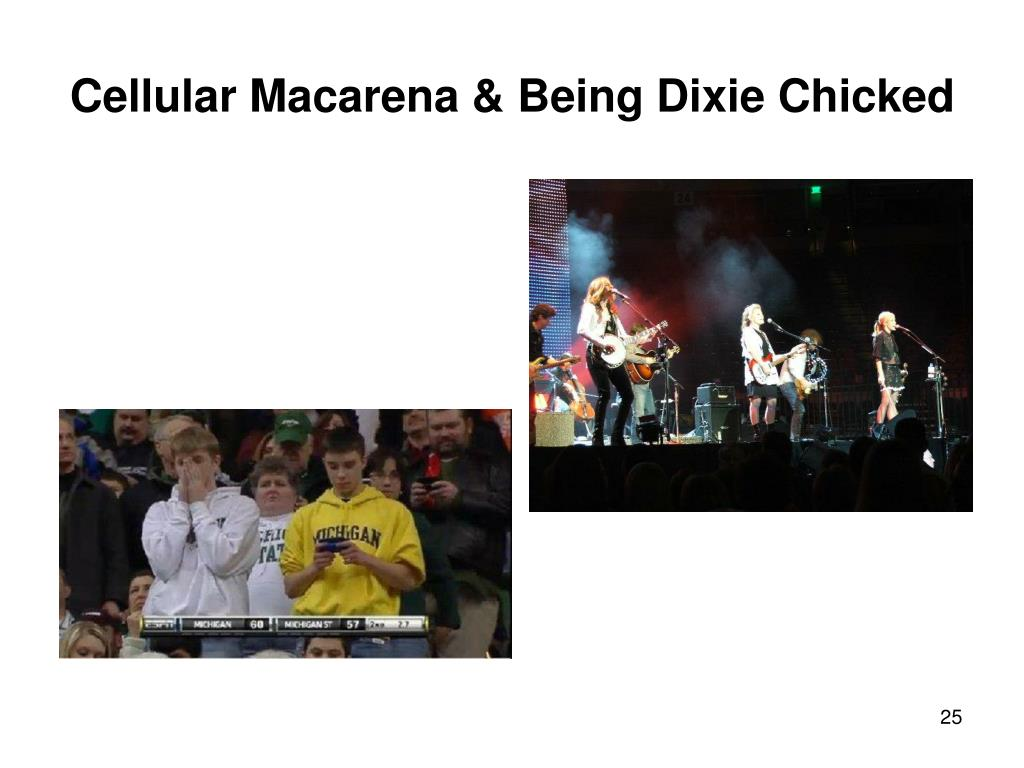 Cellular Macarena & Being Dixie Chicked