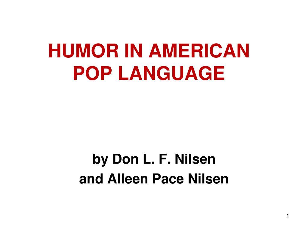 HUMOR IN AMERICAN