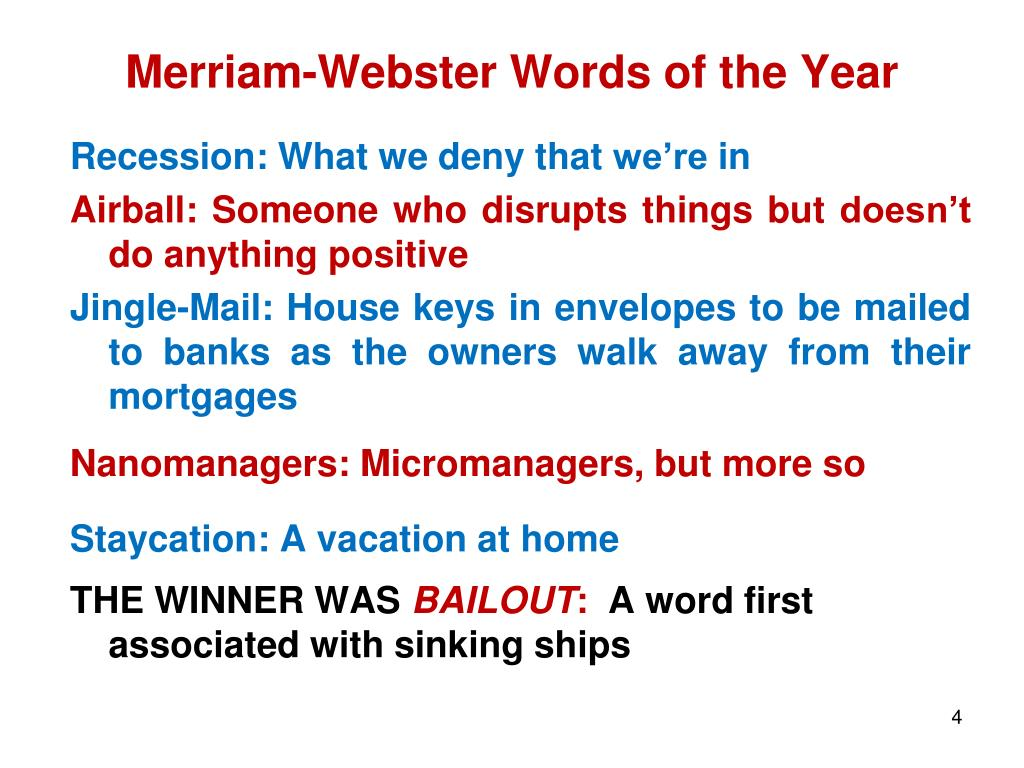 Merriam-Webster Words of the Year