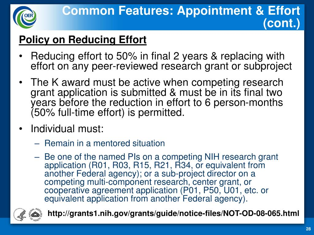 Common Features: Appointment & Effort (cont.)