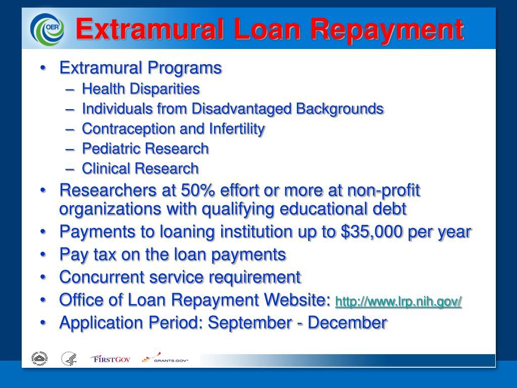 Extramural Loan Repayment