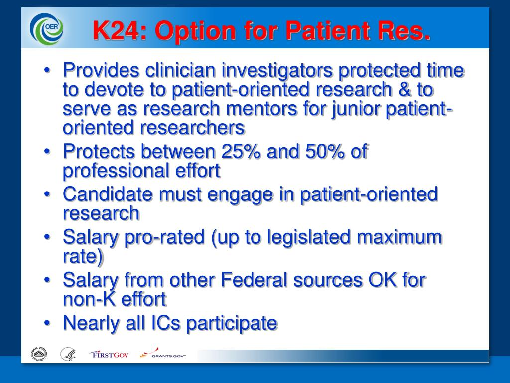 K24: Option for Patient Res.