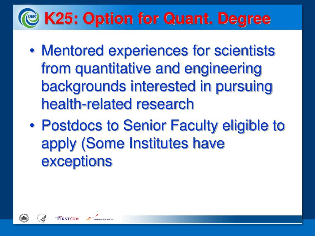 K25: Option for Quant. Degree