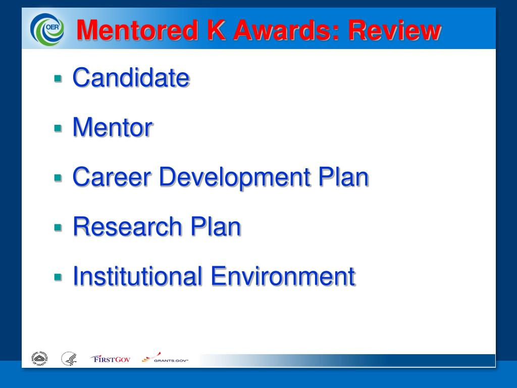 Mentored K Awards: Review