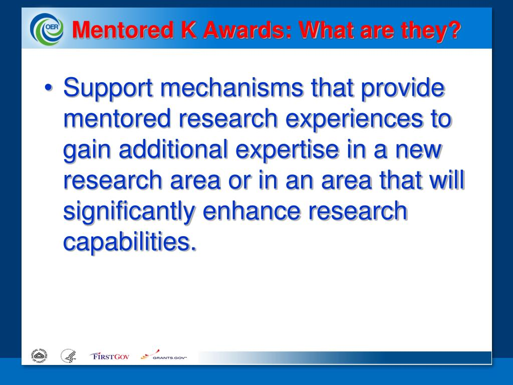 Mentored K Awards: What are they?
