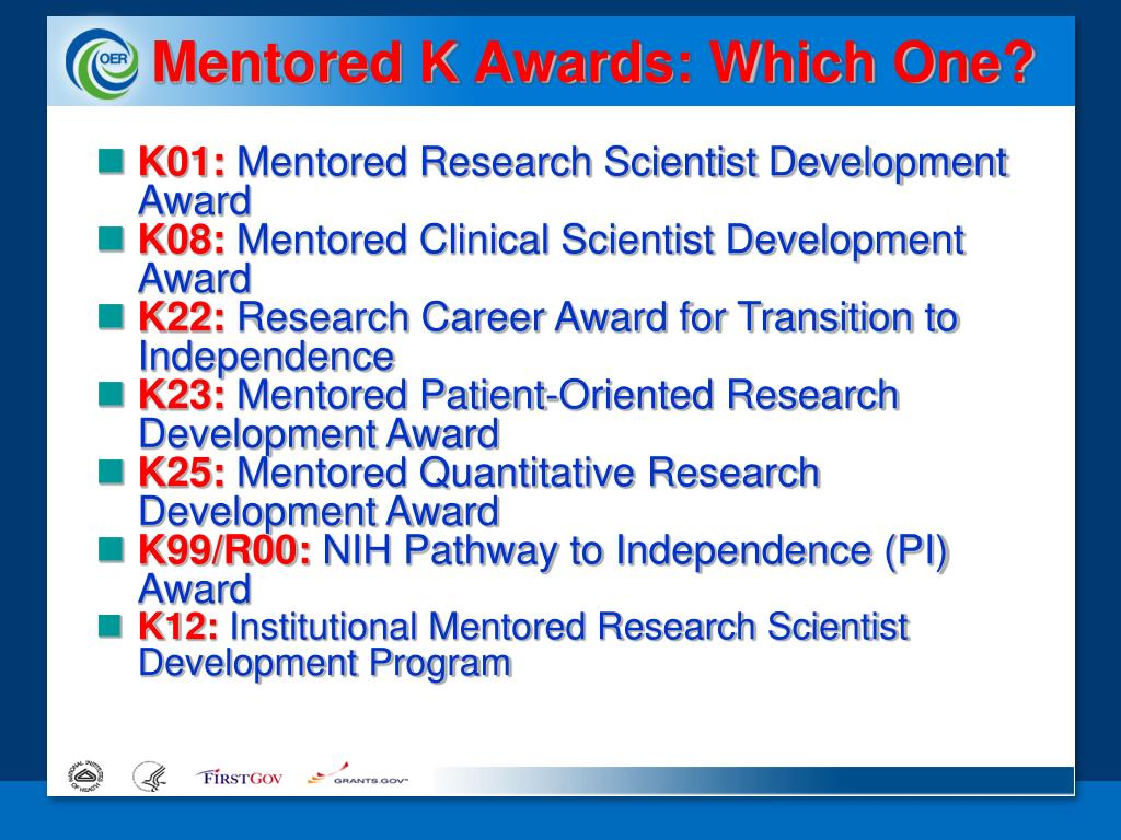 Mentored K Awards: Which One?