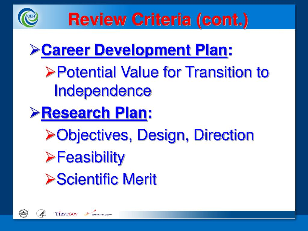 Review Criteria (cont.)