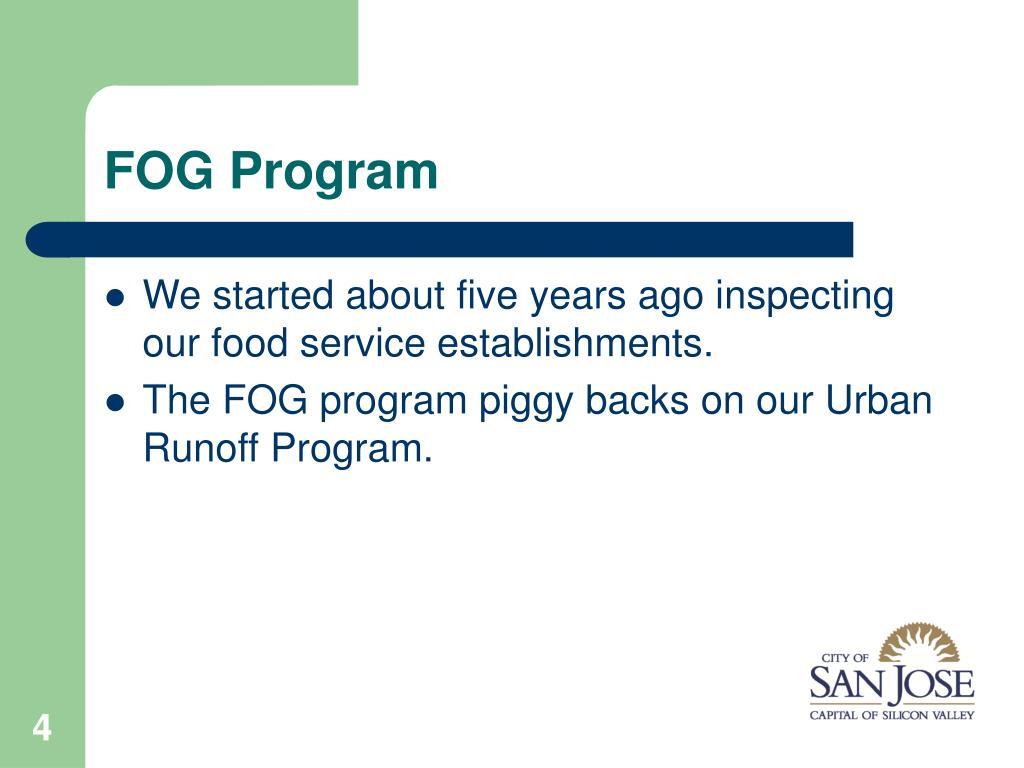 FOG Program