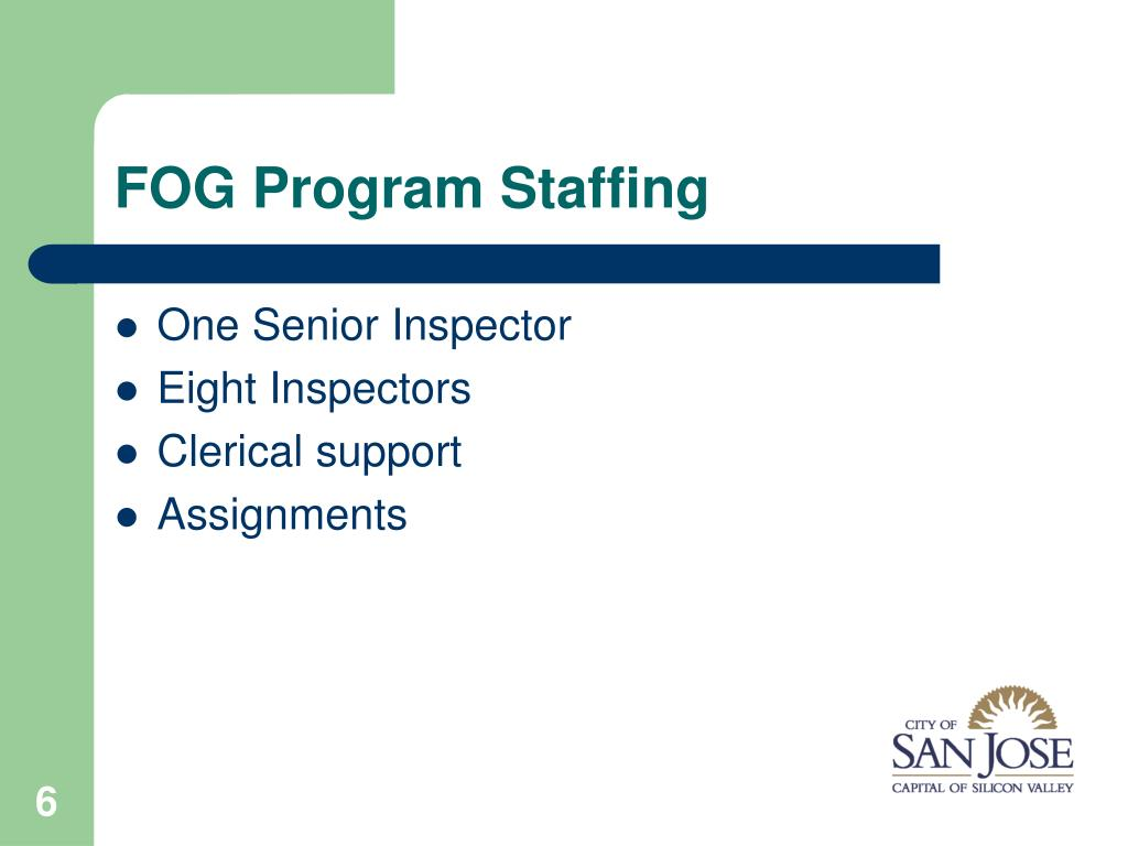 FOG Program Staffing