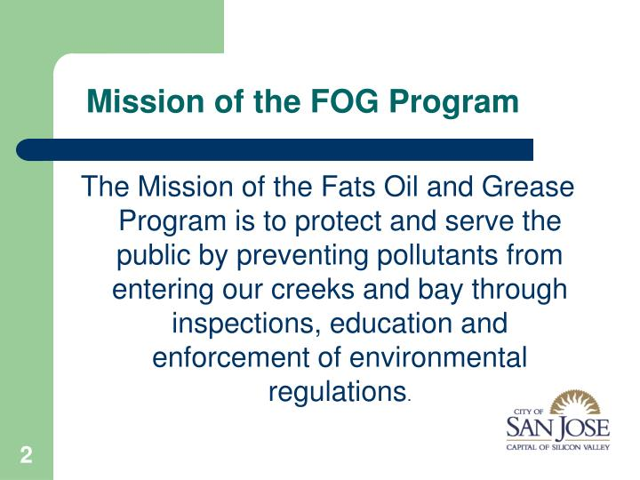 Mission of the fog program