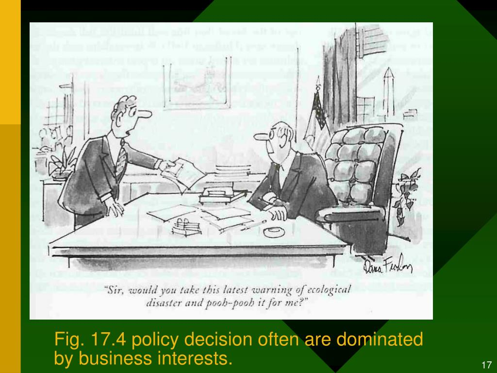 Fig. 17.4 policy decision often are dominated by business interests.