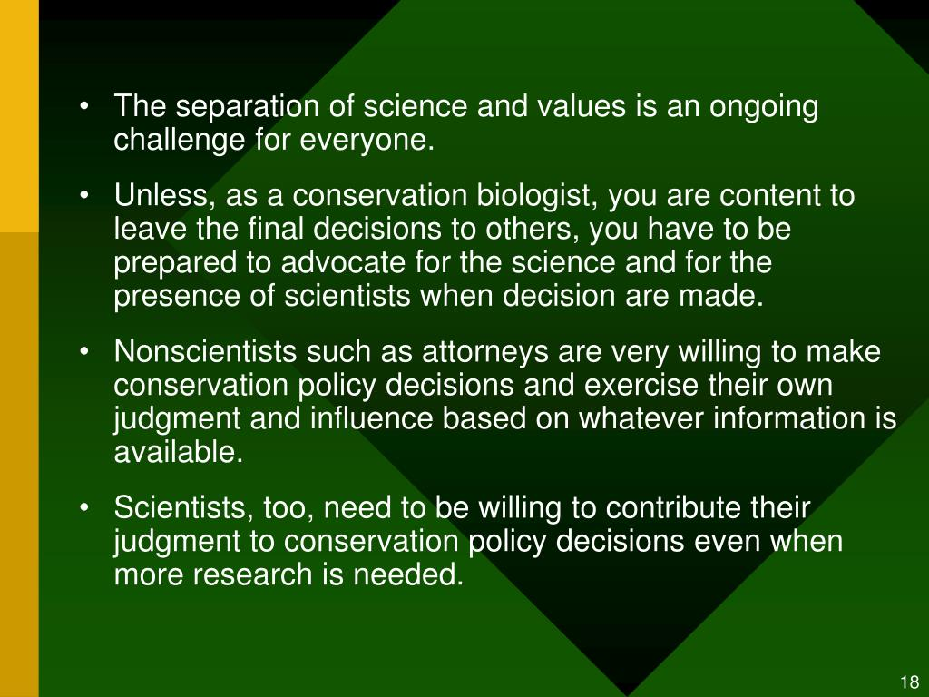 The separation of science and values is an ongoing challenge for everyone.