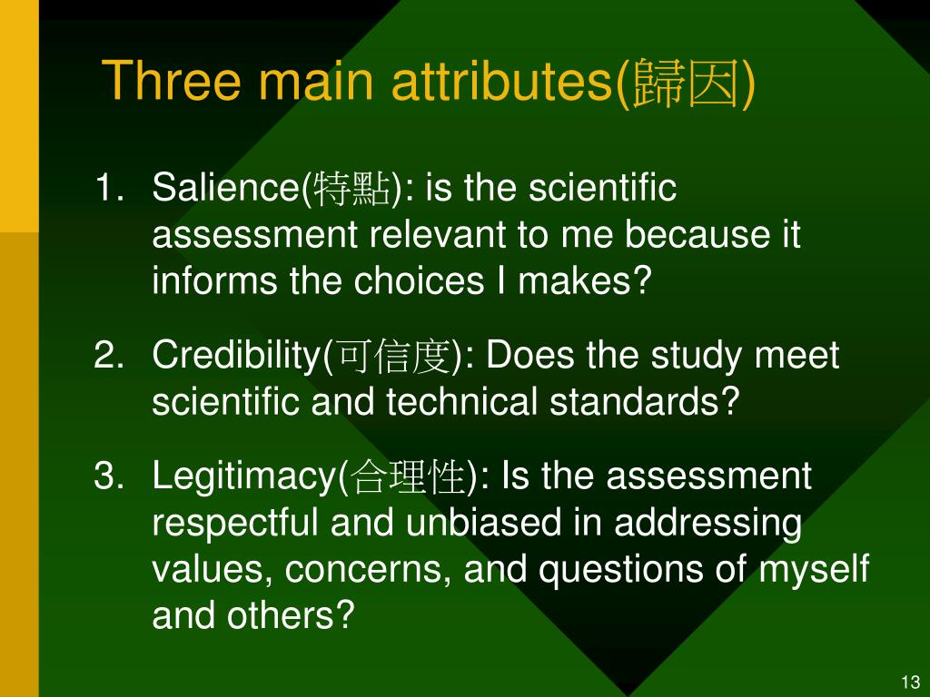 Three main attributes(