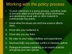 working with the policy process