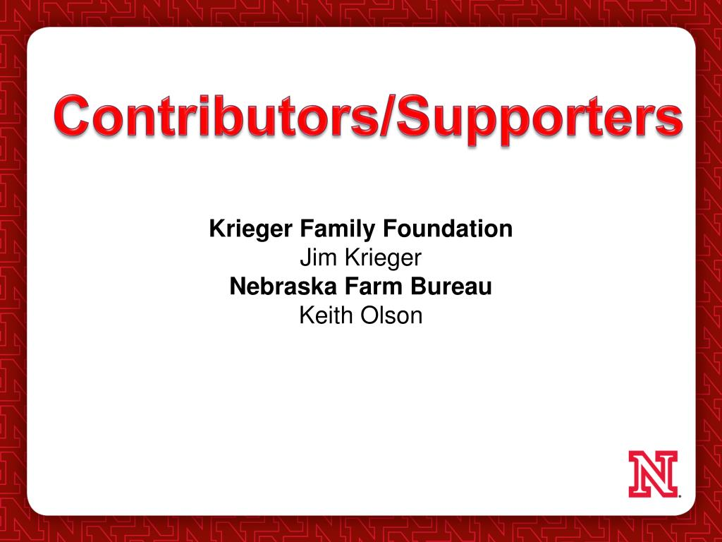 Contributors/Supporters
