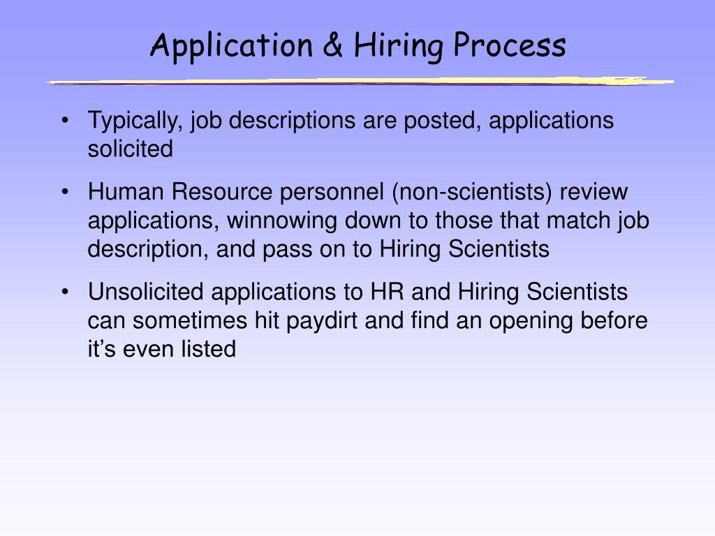 Application & Hiring Process