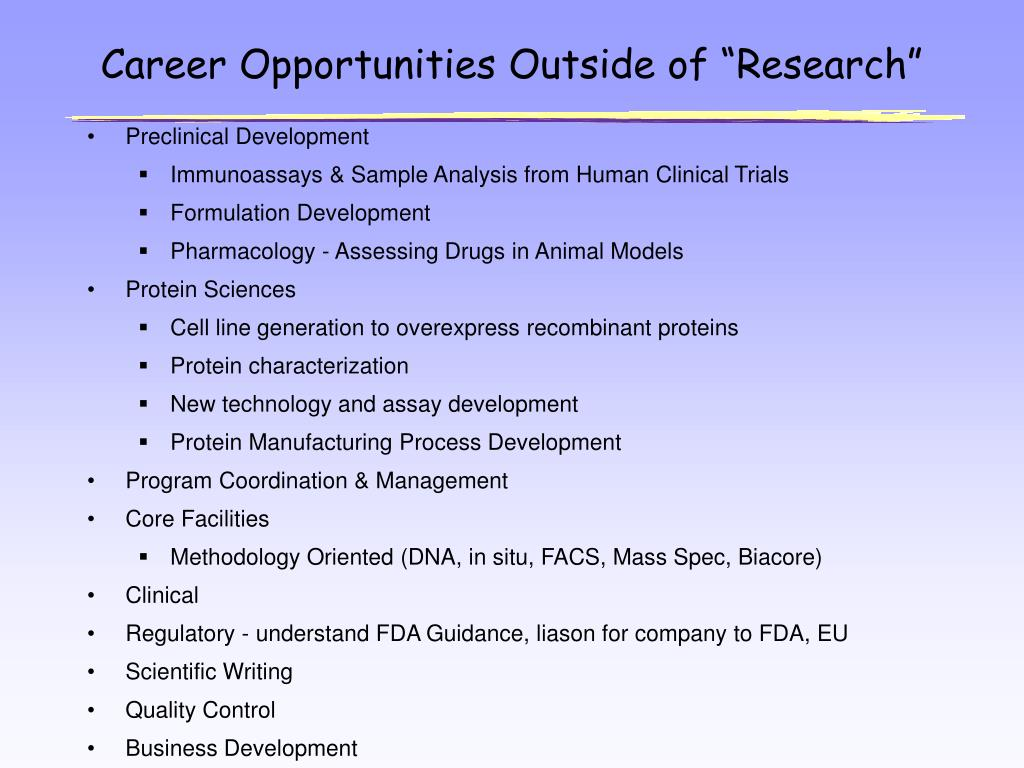 """Career Opportunities Outside of """"Research"""""""