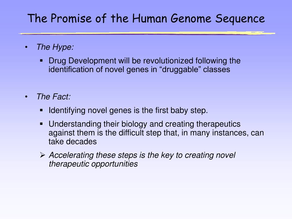 The Promise of the Human Genome Sequence