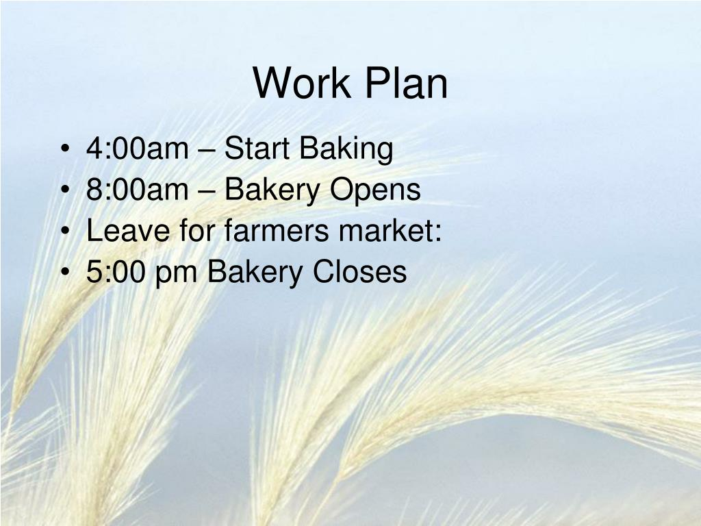 Bakery business plan ppt presentation