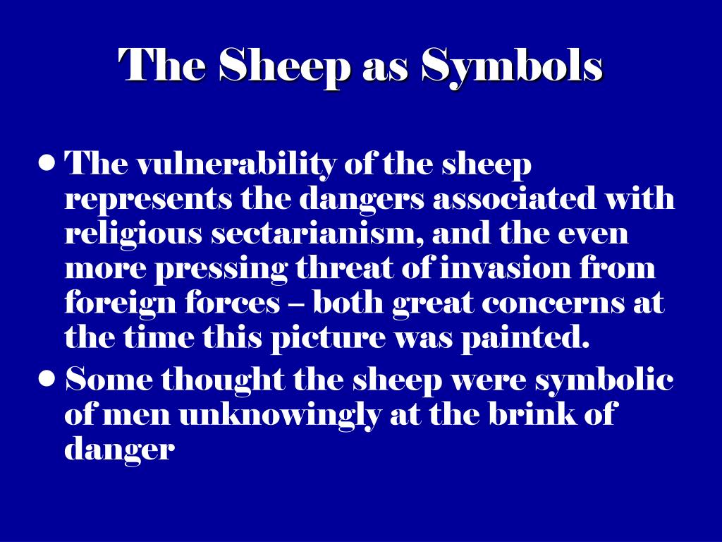 The Sheep as Symbols