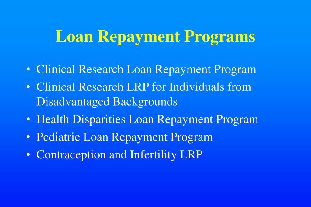 Loan Repayment Programs